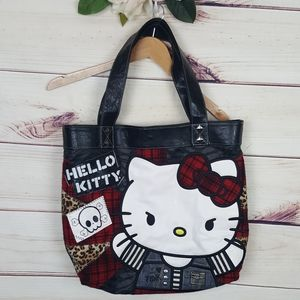 Loungefly Loves Hello Kitty Plaid Cheetah Tote bag